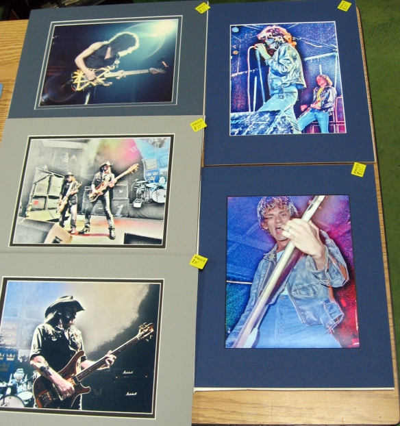 rock n' roll photos van halen, the ramones, motor head