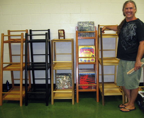 jim overly with his LP Browser storage units