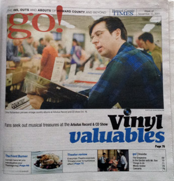 Go! Section of the Howard County Times, Vinyl Valuables