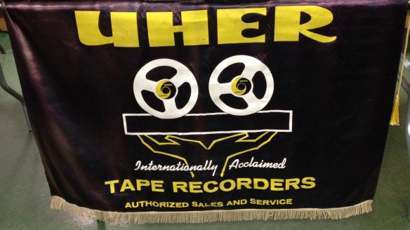 tape recorder banner