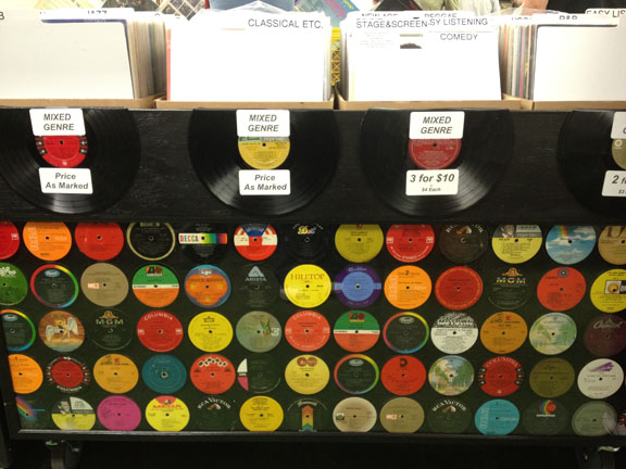 record label display