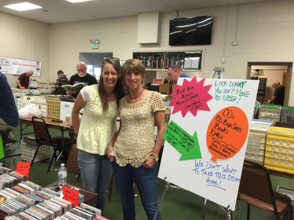 New vendors Ann and her friend, Preston