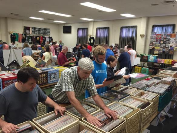 shoppers at arbutus record show