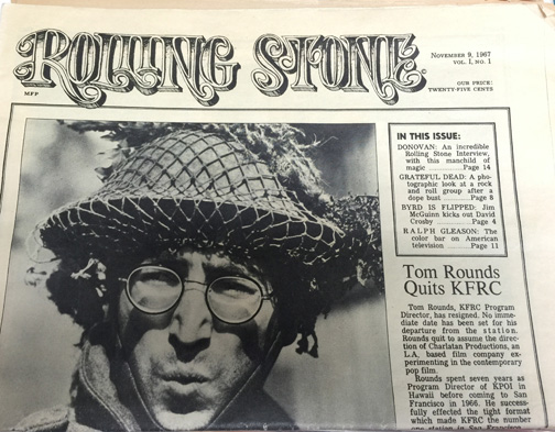 First edition of Rolling Stone Magazine.