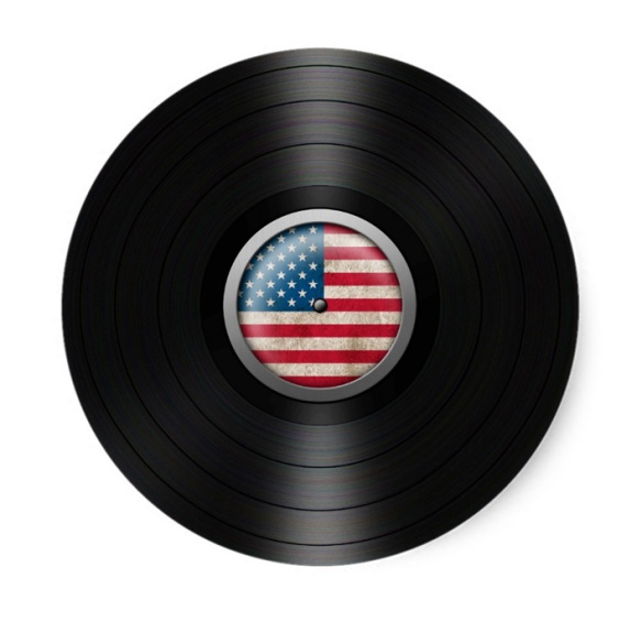 American Flag Vinyl Record Album art by Jeff Bartels