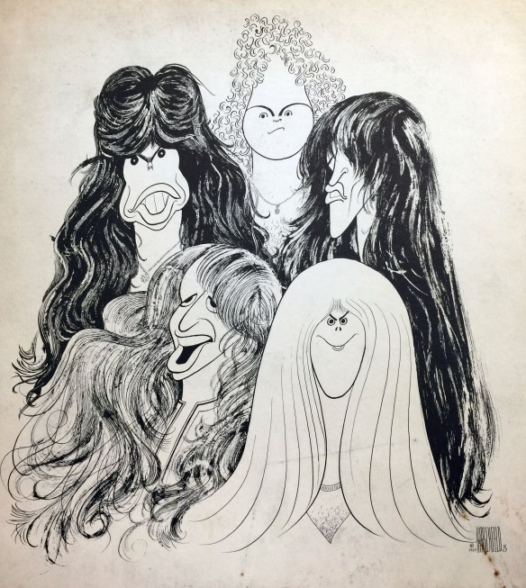 Aerosmith's 'Draw the Line' Al Hirshfeld album cover