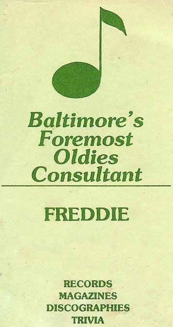 Freddie's business card