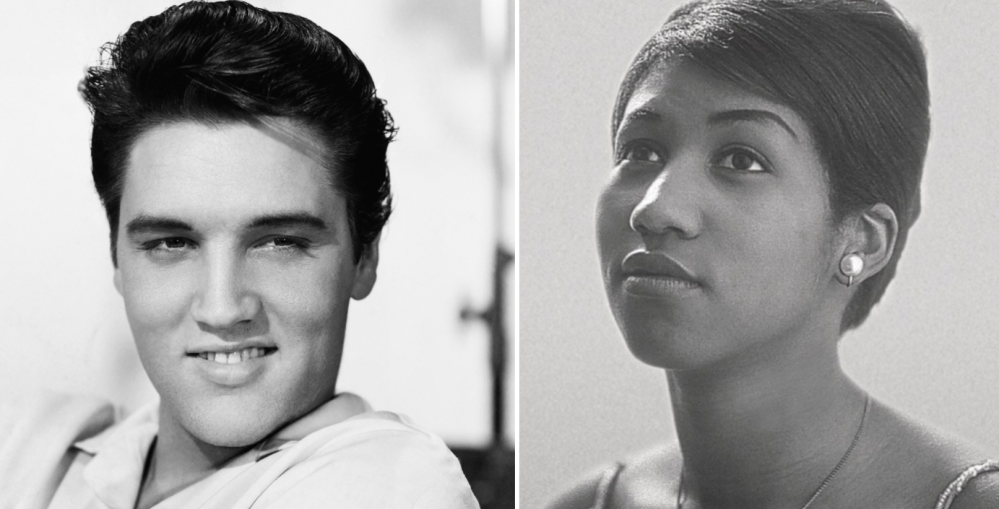 "The ""King"" Elvis Presley and the ""Queen"" Aretha Franklin."