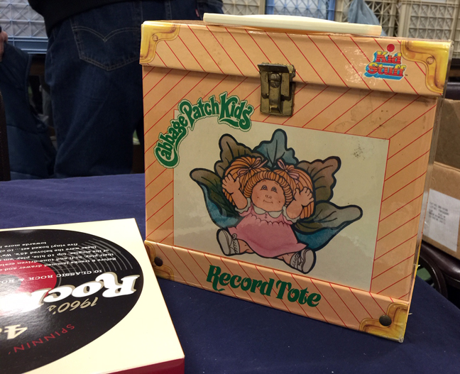 cabbage patch record tote